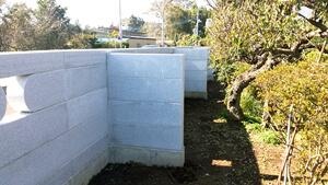 重厚感あるコブ出し加工と施主さまの体格に合わせた石塀工事(小美玉市 Iさま) 事例写真2